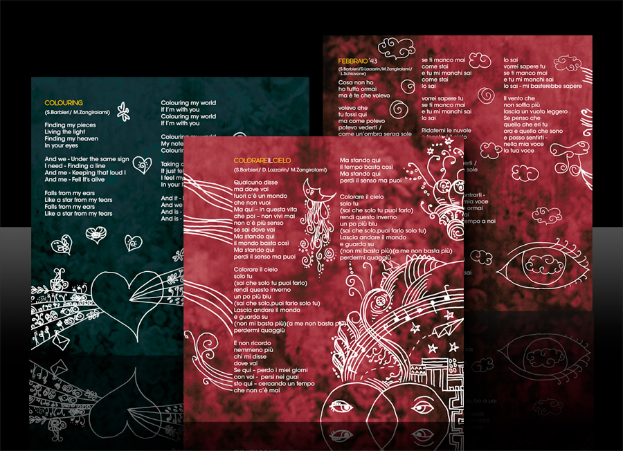 """Simona Barbieri McKenzie - """"Ridatemi le Nuvole"""" (ideazione e realizzazione grafica di inlay, booklet e cd)"""