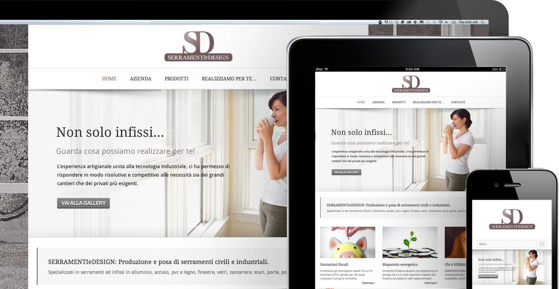 Serramenti e Design - sito web dispositivi mobili