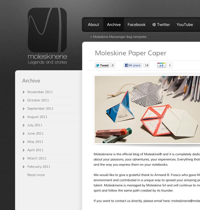 Moleskinerie - blog concept
