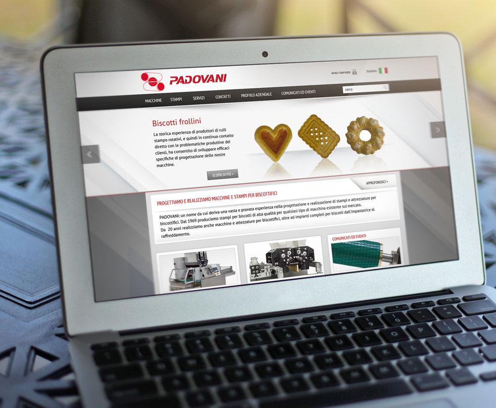 Padovani: realizzazione grafica homepage