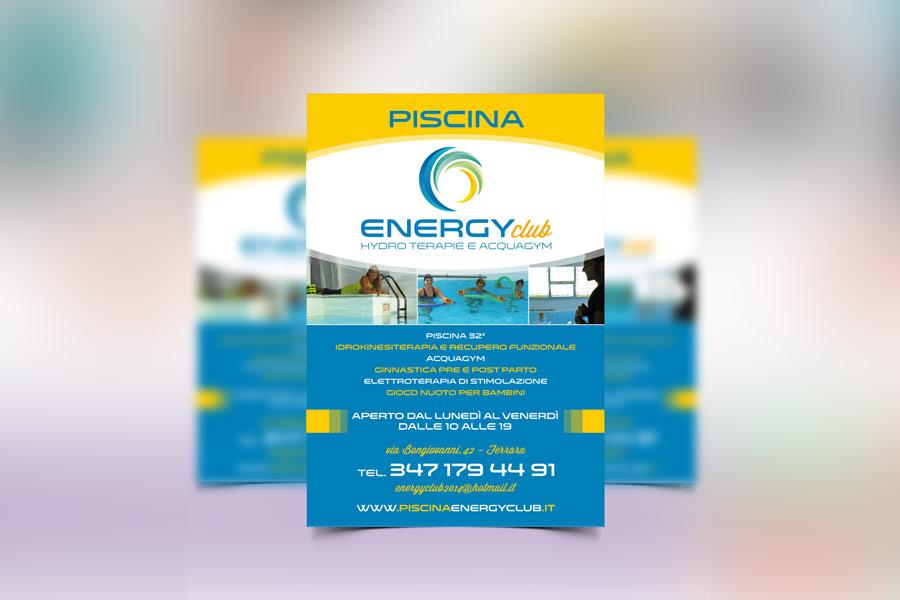 Realizzazione grafica flyer per piscina