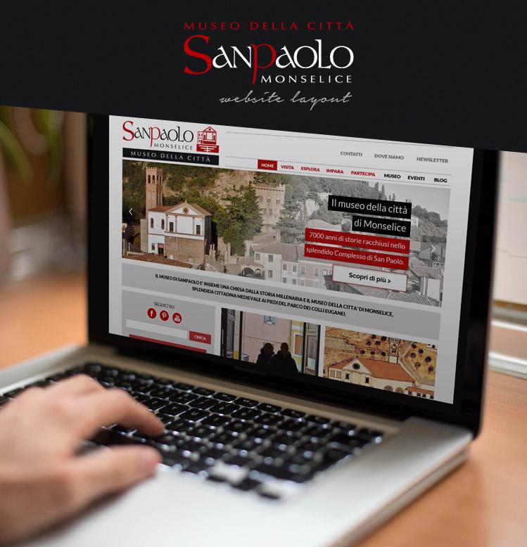 Progettazione grafica sito web - SanPaolo Museo della Città