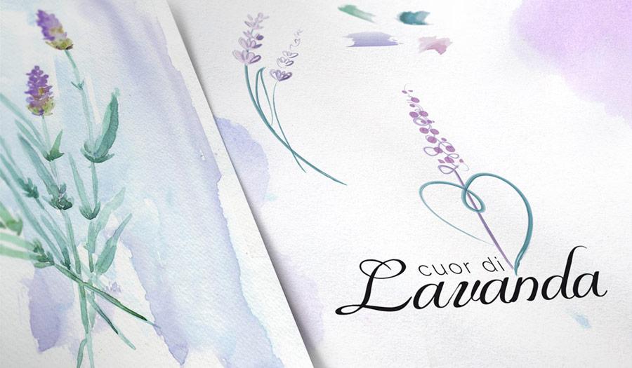 Cuor di Lavanda: Logo Design