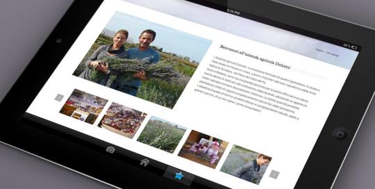Cuor di Lavanda: Sito web per smartphone e tablet