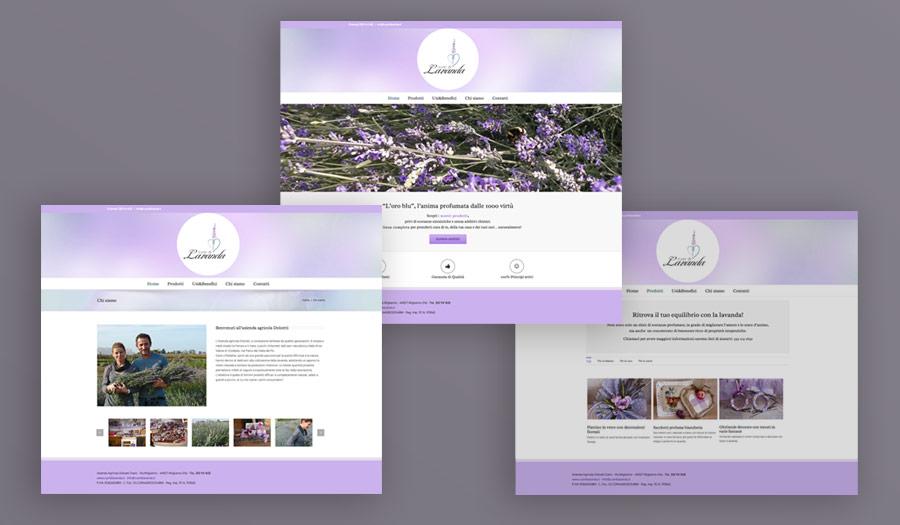 Cuor di Lavanda: Sito web layout