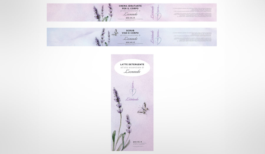Cuor di Lavanda: Studio packaging per cosmetici